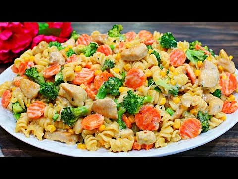 Creamy Chicken And Pasta Recipe - Easy Three Cheese Creamy Chicken And Pasta