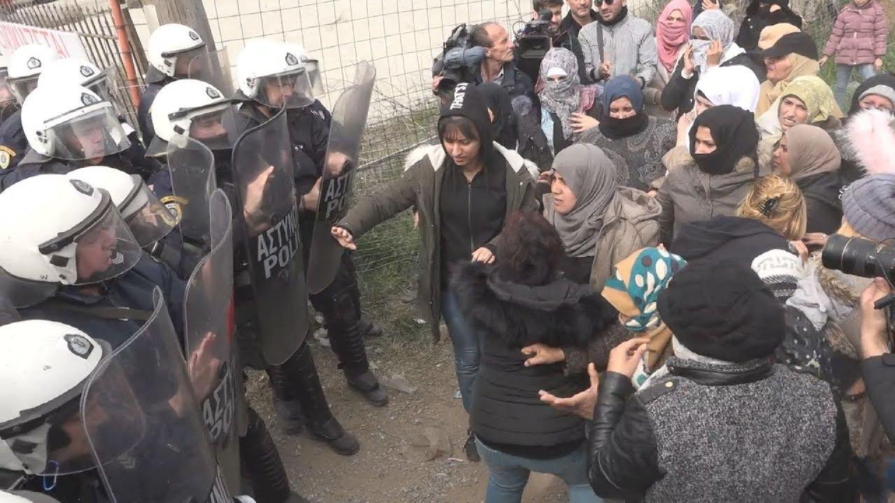 Νέα επεισόδια μεταξύ προσφύγων και αστυνομίας στα Διαβατά