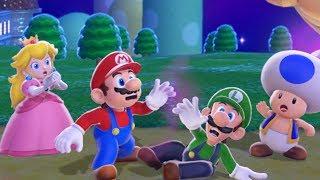 Video Super Mario 3D World 100% Walkthrough - World 1 (4 Players) MP3, 3GP, MP4, WEBM, AVI, FLV Juli 2019