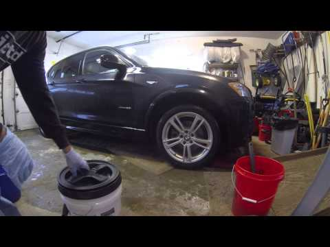 How to wash your car in your garage without a hose.
