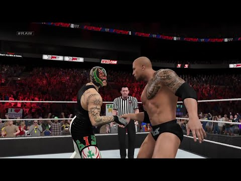 "WWE 2K15- The Rock Vs Rey Mysterio Normal Match ""WWE Univers"" 2015 (PS4)"