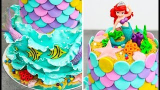 ARIEL The LITTLE MERMAID Cake | Amazing Cake Decorating Ideas by Cakes StepbyStep