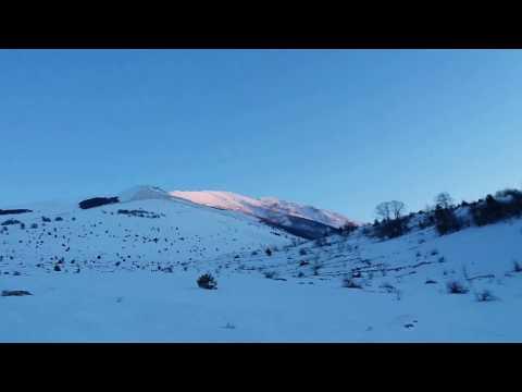 Preview video 360° di tramonto gelido