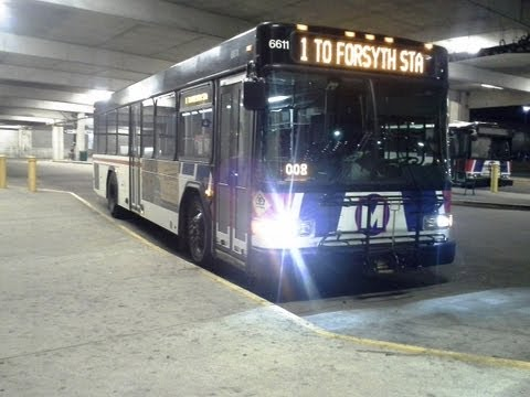 low floor - St. Louis Metro Transit's 2012 35 foot Gillig Low Floor #6611 Route #1 Gold Welcome Aboard the #1 Bus from Central West End MetroBus Ctr located in St Louis,...