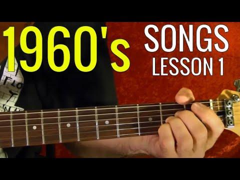 1960's POPULAR ROCK SONGS – Guitar Lesson