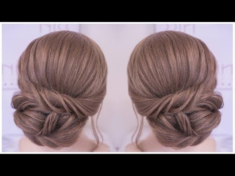 ELEGANT UPDO HAIRSTYLE FOR WEDDING PARTY