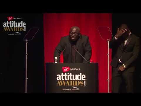 Edward Enninful accepts Attitude's Man of the Year Award