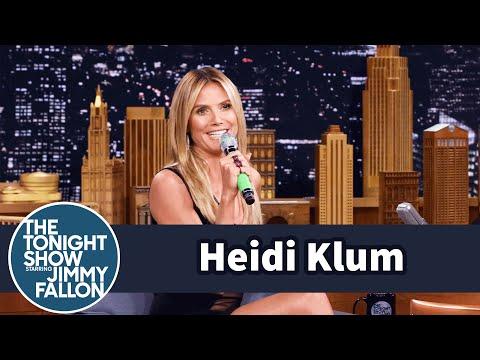 شاهد- هايدي كلوم تغني بطريقة عجيبة في The Tonight Show Starring Jimmy Fallon