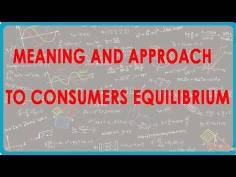 1143. CBSE Economics Class XII - Bedeutung und Vorgehensweise für die Verbraucher Gleichgewicht