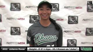 2022 Julianna 'Julez' Roxas Pitcher and Middle Infielder Softball Skills Video - Ohana Tigers