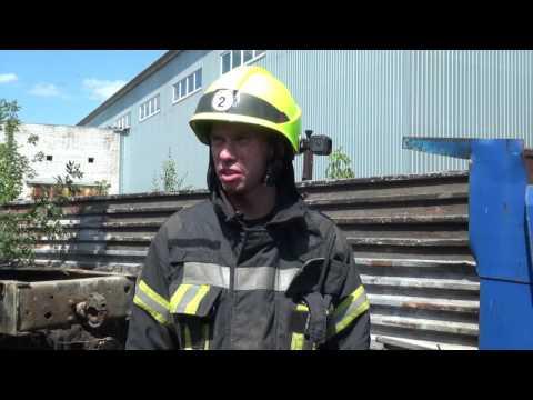 Під час гасіння пожежі вогнеборці постраждали від вибуху балону