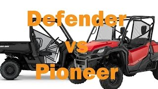 7. Honda Pioneer 1000 vs Can Am Defender HD10
