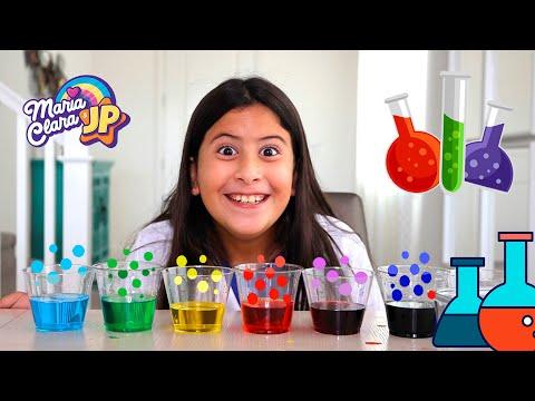 Experimentos de ciência para crianças com Maria Clara e JP!!! - ÁGUAS QUE ANDAM.