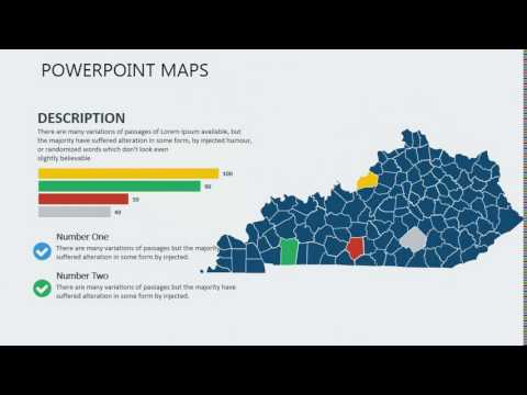 PowerPoint maps of Kentucky with Counties
