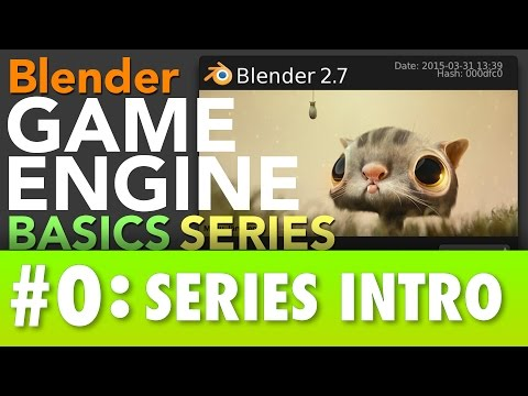 Blender Game Engine Basics Tutorial #0 : Series Intro #b3d #gamelogic