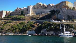 Bonifacio France  City pictures : Sailing into Bonifacio on the French Island of Corsica (Video 34)