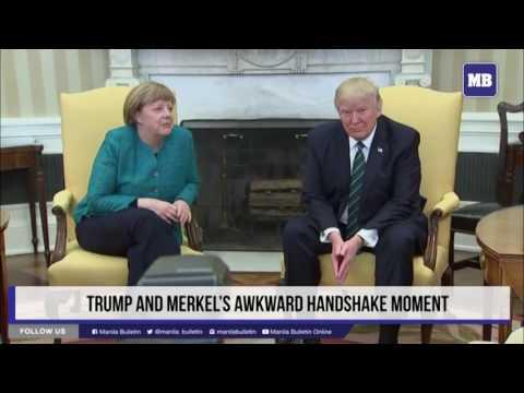 Трамп анд Mеркел'с авквард хандшаке момент