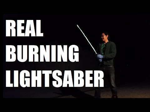 This Working Lightsaber Is Made Entirely Of