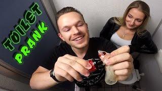 EXTREME TOILET PRANK! (Fire gun, bloody condom) | PvP
