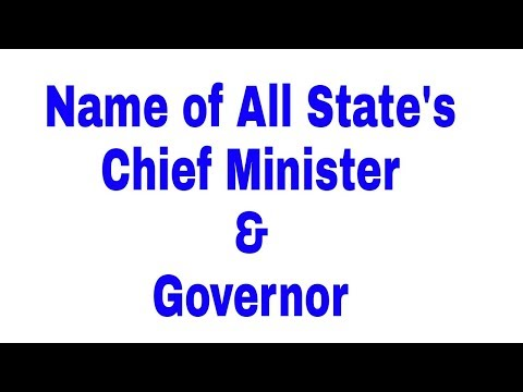 List of all state's cm & governor of india current affairs 2017