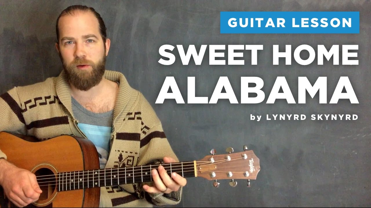 "Guitar lesson for ""Sweet Home Alabama"" by Lynyrd Skynyrd (acoustic)"