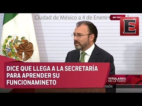 Luis Videgaray - Protesta como Canciler (Excélsior TV)