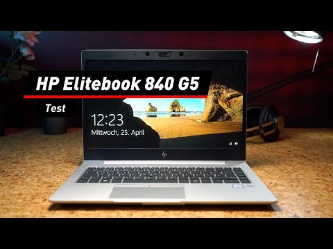 HP Elitebook 840 G5: Kompaktes Notebook im Video