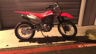 5. 2019 crf250f first day review startup and revs
