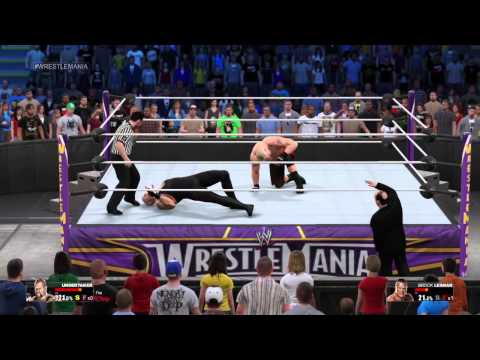 WWE 2K15 WrestleMania 30 The Undertaker Vs Brock Lesnar With Paul Heyman