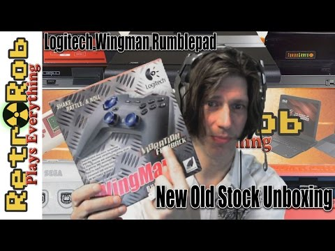 Logitech Wingman Rumblepad New Old Stock Unboxing and Impressions