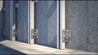 Video 3d de proceso de instalación de fachadas ventiladas.