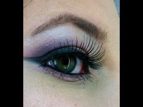 Maquillaje en rosa y morado