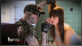 Rick Genest 'Zombie Boy' in Germany's Next Top Model 2013