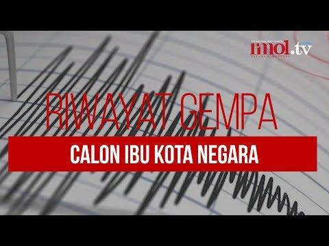 Riwayat Gempa Calon Ibu Kota Negara