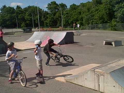 Sam at the skatepark
