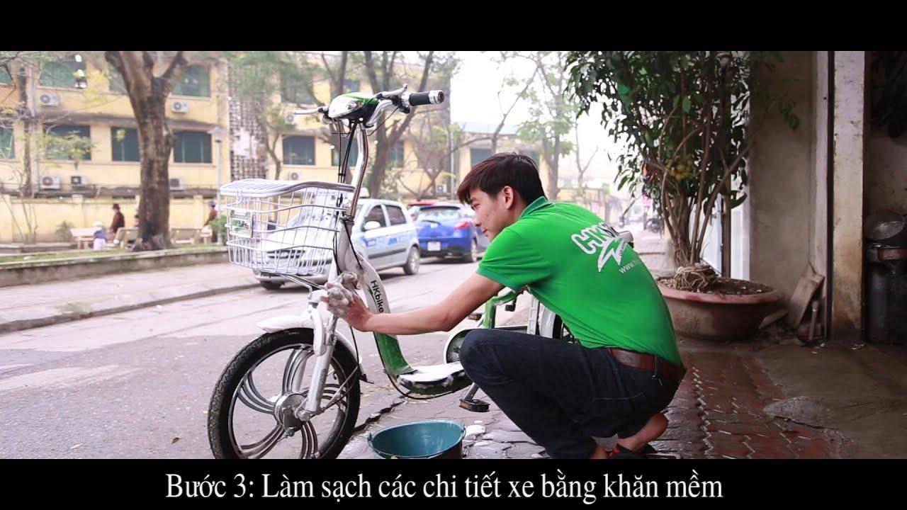 Hướng dẫn rửa xe điện HKbike đúng cách
