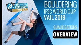 IFSC Climbing World Cup Vail 2019 - Boulder - Qualifications Overview by International Federation of Sport Climbing