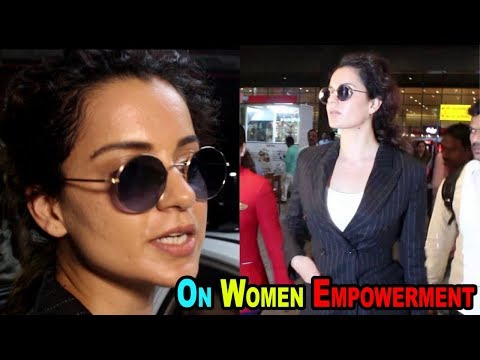 Kangana Ranaut Talks About Women Empowerment At Mumbai Airport