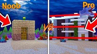 Minecraft - NOOB VS PRO SECRET UNDERWATER BASE!