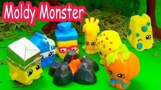 Shopkins Halloween Campfire Story Moldy Monster Small Mart Limited Edition Camping