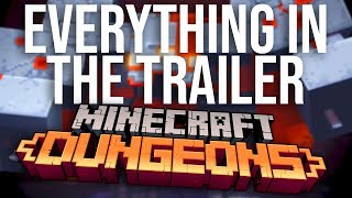 Everything in the Minecraft Dungeons Trailer Rewind
