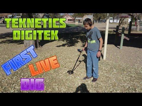 Metal Detecting:  Teknetics Digitek - First Live Dig
