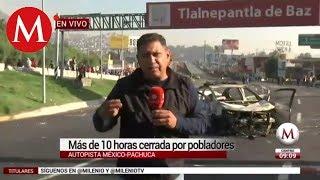 Caos vial por cierre de la autopista México-Pachuca