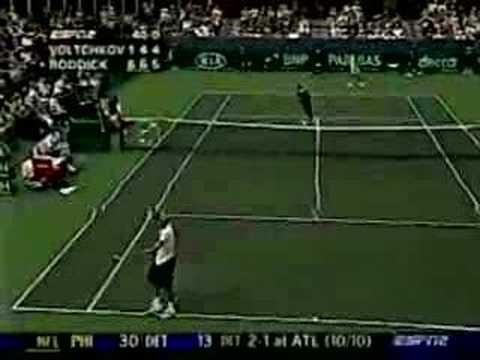 Roddick y el servicio más rápido de la historia del tenis