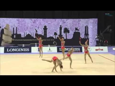 Rhythmic - CONJUNTOS - España - ESP - Final Mazas (17433) - 2014 Rhythmic WCH, Izmir (TUR)