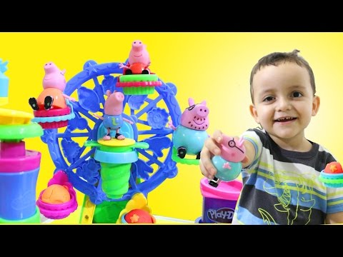Video Pig George e Peppa Pig Massinha Play Doh Roda Gigante de Cupcake Playset download in MP3, 3GP, MP4, WEBM, AVI, FLV January 2017