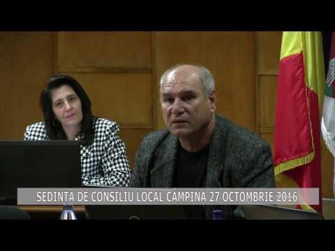 Ședință Consiliul Local Câmpina 27 octombrie 2016