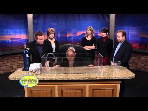 SteveSpanglerScience - Steve and the 9News team try breathing a little Sulfur Hexafluoride to see how it changes their voice. About Steve Spangler Science... Steve Spangler is a ce...