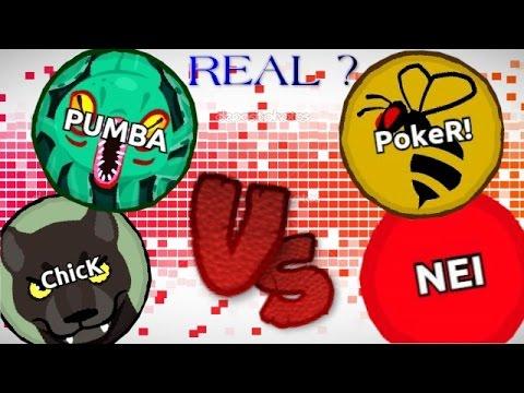 Agar.io PUMBA & ChicK Vs NEIKER ? / REAL or FAKE ?! (видео)