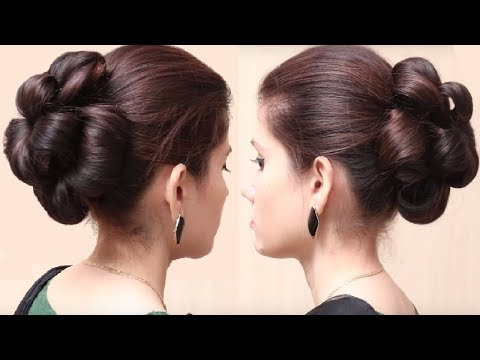 Flower Bun Hairstyle for Girls | Easy Hairstyle for Long Hair | Hairstyles Tutorial